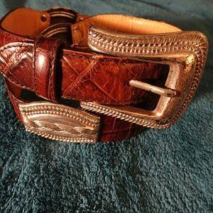 Vintage FOSSIL Leather Belt